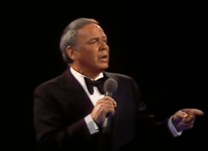 """Frank Sinatra Sings Nostalgic Version Of """"My Way,"""" Looking Back On His Life"""