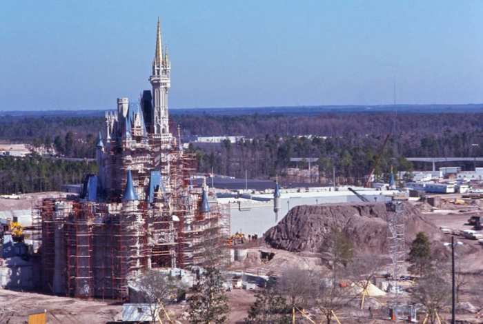 Disney World fairytale castle construction