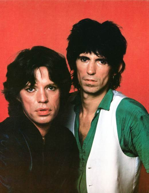 ROLLING STONES, Mick Jagger, Keith Richards, c. late '70s early '80s