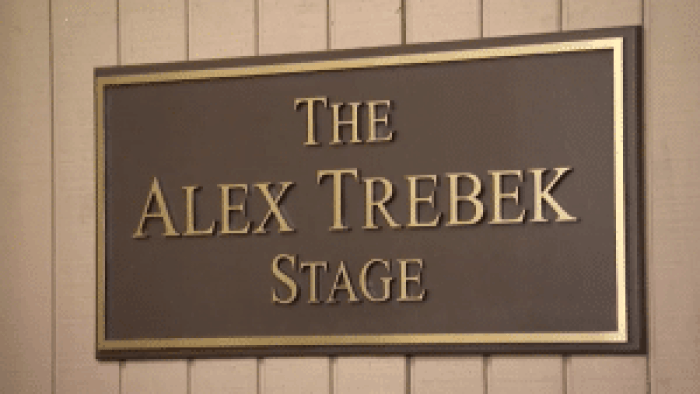 The Alex Trebek Stage, newly christened in time for a new season of Jeopardy!