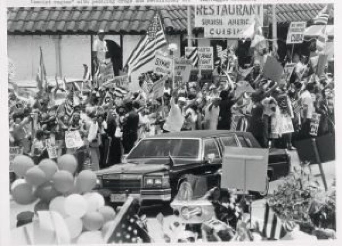 The city hosted President Reagan during a key meeting with the local community