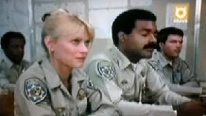Randi Oakes and Michael Dorn in CHiPs
