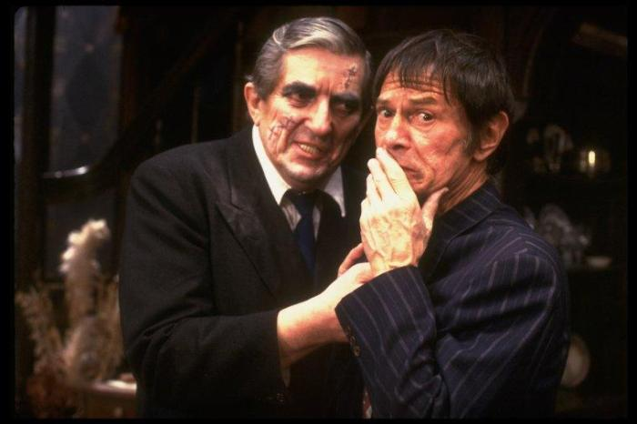 Jonathan Frid and Larry Storch in 'Arsenic and Old Lace'