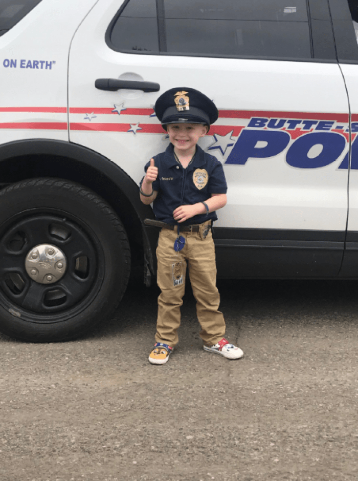 child with cancer becomes first responder
