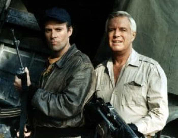 Dwight Schultz and George Peppard in The A-Team