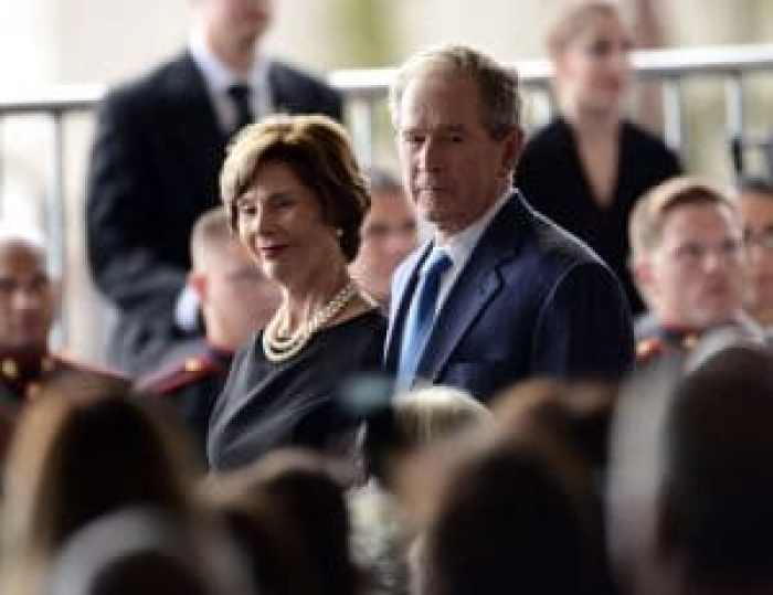 Proud grandparents of four, Laura and George W. Bush