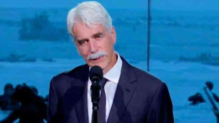 sam elliott recites veteran's account of D-Day
