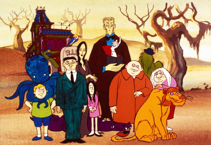 THE ADDAMS FAMILY, Pugsley, Gomez, Morticia, Wednesday, Lurch, Thing, Uncle Fester, Cousin It, Granny, 1973-75