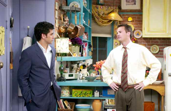 FRIENDS, John Stamos, Matthew Perry, 'The One With The Donor'