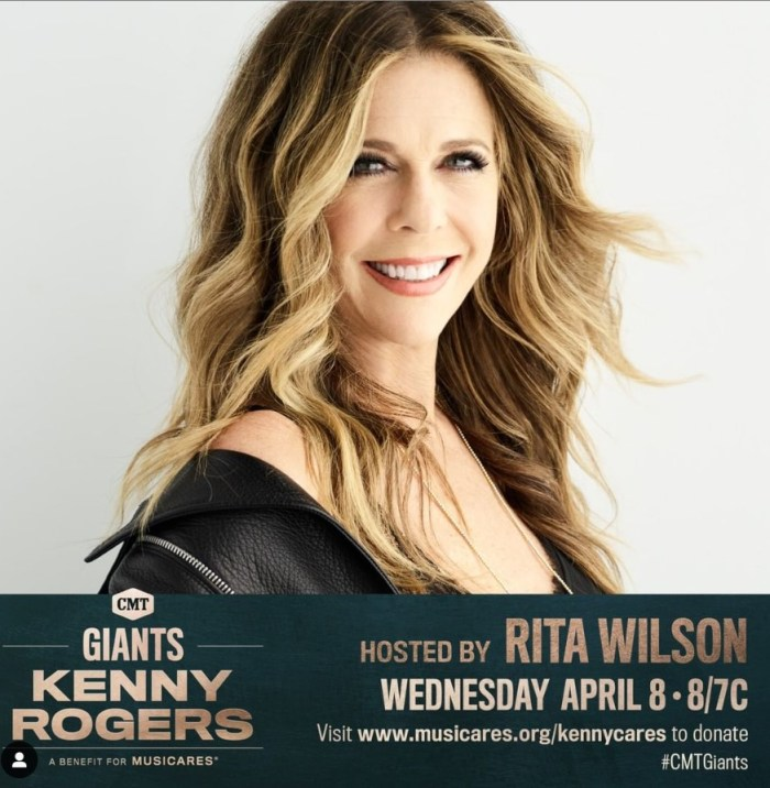 rita wilson will have kenny rogers benefit