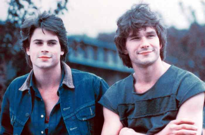 YOUNGBLOOD, from left: Rob Lowe, Patrick Swayze, 1986