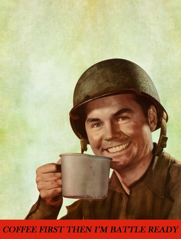 vintage soldier coffee