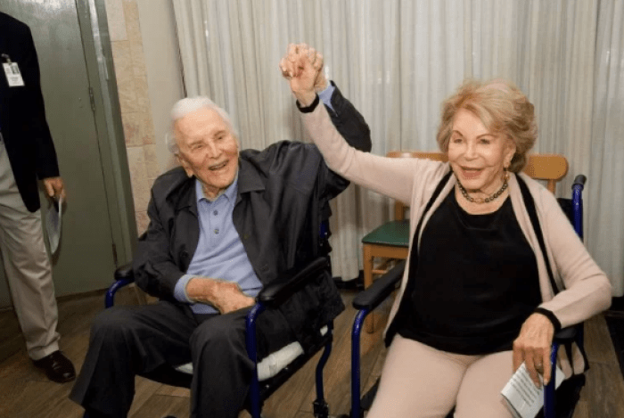 michael douglas wishes happy 101 birthday to anne buydens