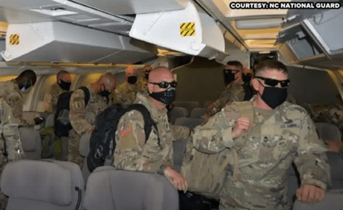 More Than 120 North Carolina Soldiers Return Home From Middle East