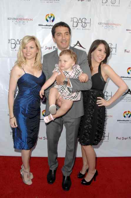 Renee Sloan with Scott Baio and family