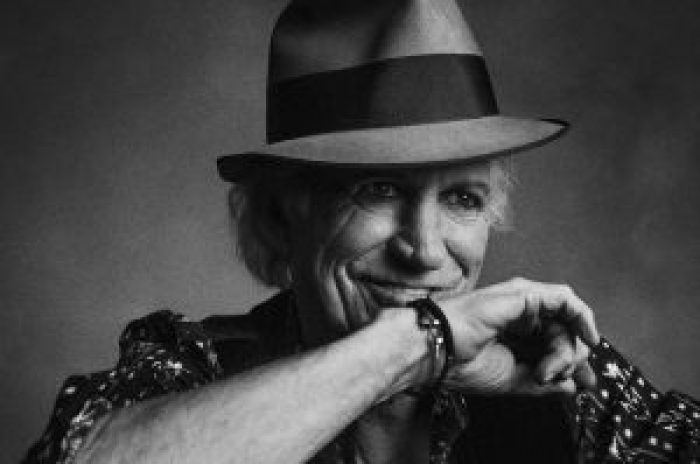 Keith Richards reeled in his crazy lifestyle for a calm moment with his growing family