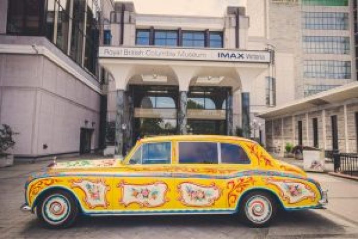 After getting painted over, the Rolls Royce features art nouveau stylings by a local artist