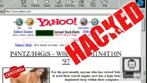 The Yahoo website, hacked by P4NTZ and H4GiS