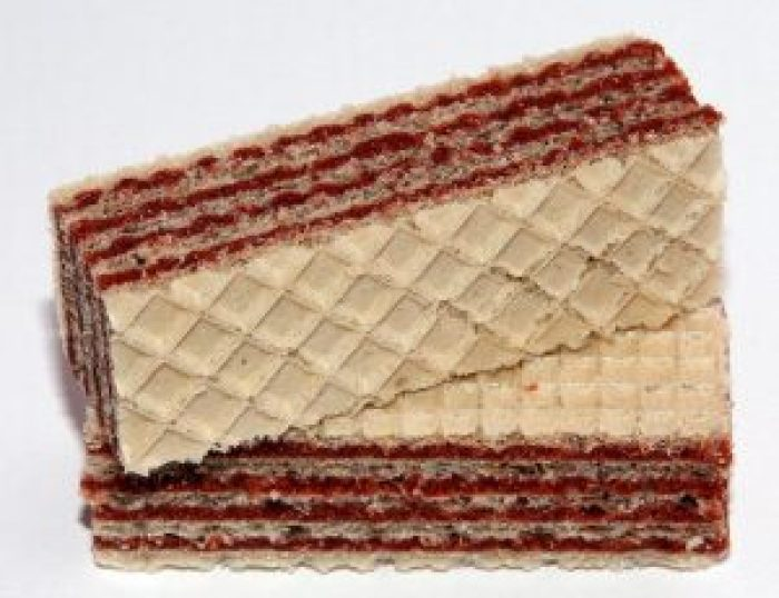 Neapolitan wafers have a very similar appearance and, to an extent, flavor