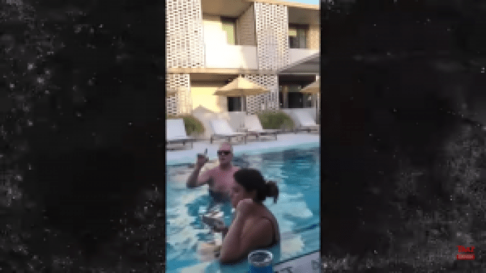 Michael Anthony Hall grew confrontational at the pool