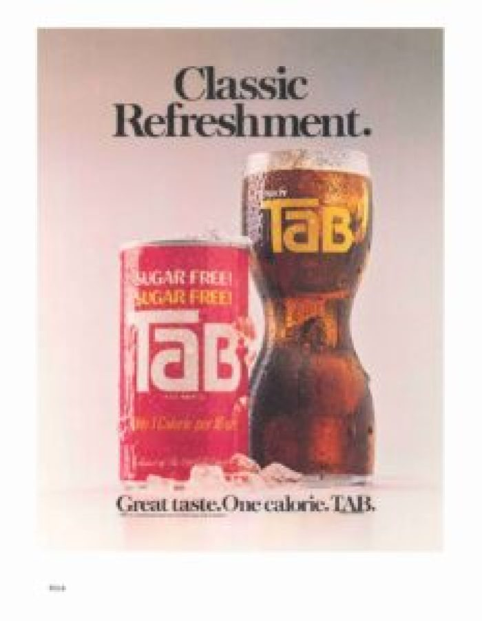 Since its debut in the '60s, Tab drinks gained a loyal but increaasingly niche cult following