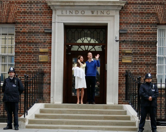 kate middleton lindo wing photo op