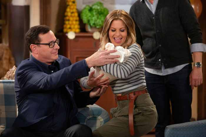 FULLER HOUSE, from left: Bob Saget, Candace Cameron Bure