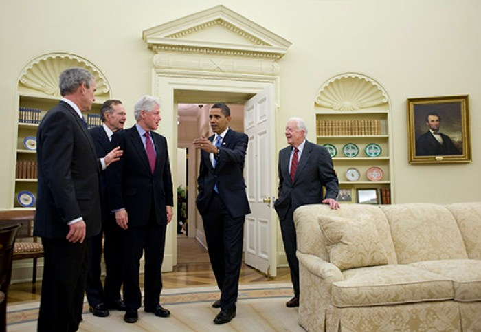 former presidents at the white house