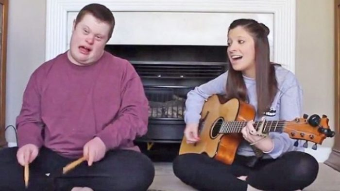 "Young Girl Performs Sweet ""Jolene"" Duet With Brother Who Has Down Syndrome"