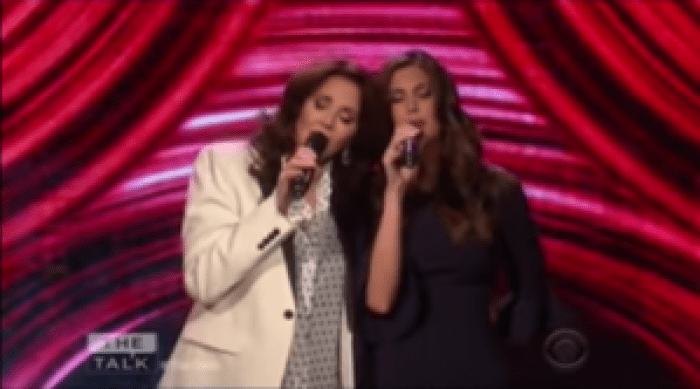 Lynda Carter and Jessica Altman sang a hit from the Everly Brothers