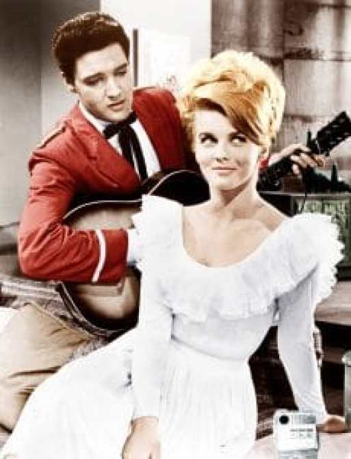 Elvis Presley and Ann-Margret were sho towards one another when they met