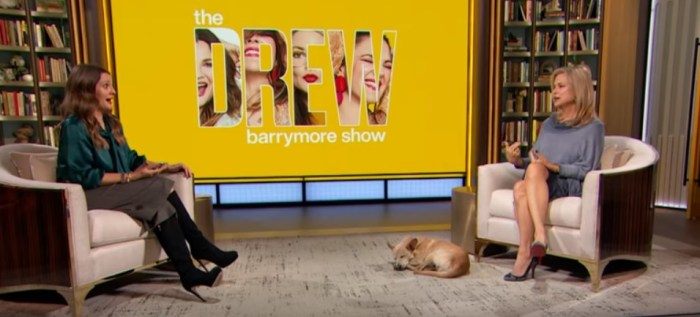 drew barrymore with the psychic on her talk show