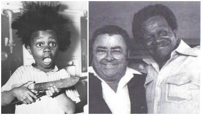 Billy Buckwheat of The Little Rascals Cast Pictured As Child And Adult side by side
