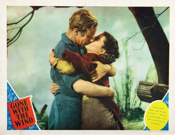 GONE WITH THE WIND, lobbycard, from left: Leslie Howard, Vivien Leigh, 1939