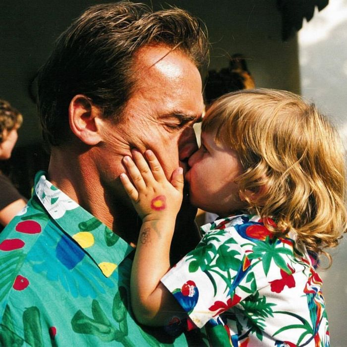 ARNOLD SCHWARZENEGGER and son christopher young