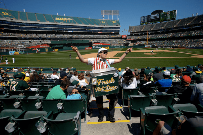 Tom Hanks Returns To Childhood Job To Sell Hotdogs At Oakland A's Games With No Crowds