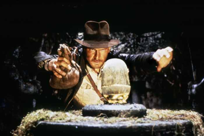 RAIDERS OF THE LOST ARK, Harrison Ford as Indiana Jones, 1981
