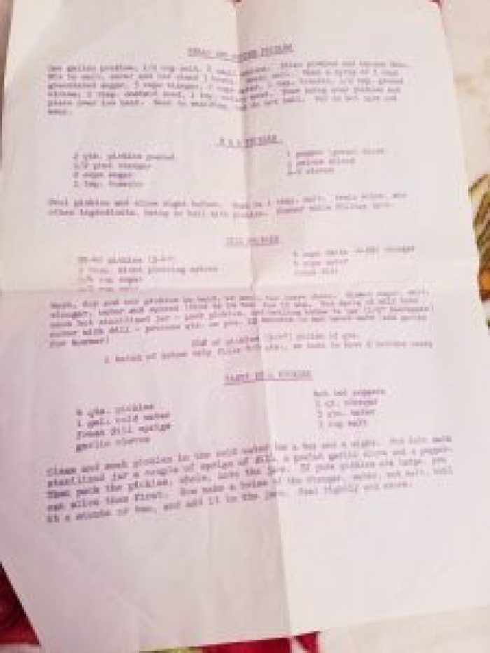 Mimeographs used purple ink with ingredients that gave off an enjoyable smell