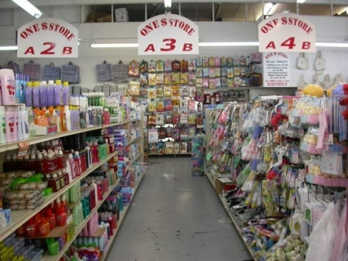 dollar store personal care items aisle