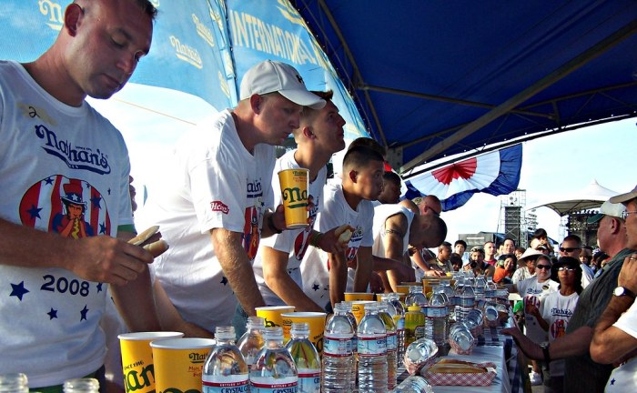 nathans hot dog eating contest contestants