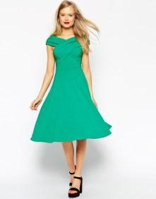 Green Bardot Dress BUY