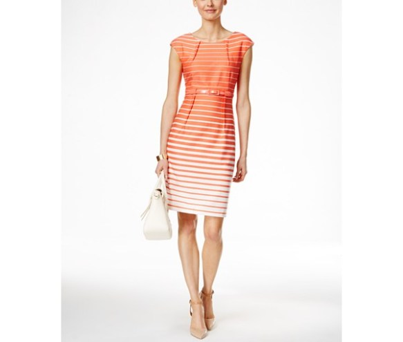 Orange Ombre Stripes