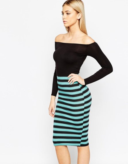 Two Tone Stripe Dress