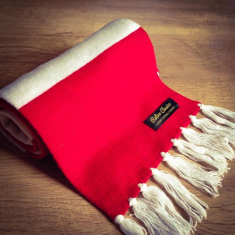 Liverpool FC Luxury Merino Wool Striped Football Scarf