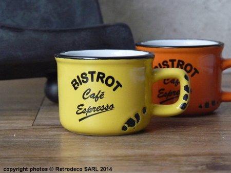 tasse expresso bistrot cafe jaune deco