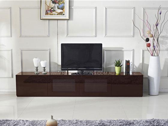 24m High Gloss Brown Grandora TV Cabinet