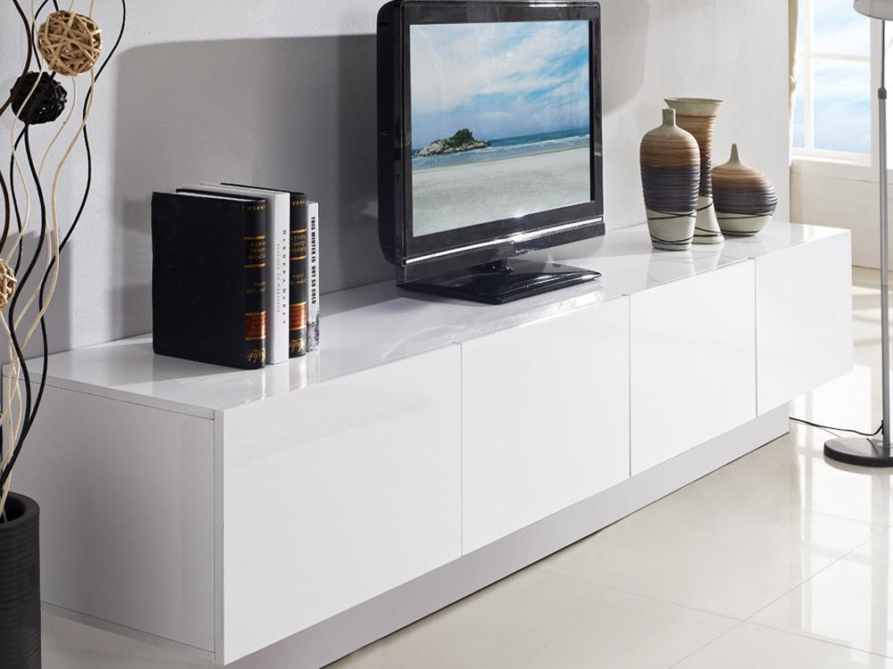 24m Majeston White Floating TV Cabinet