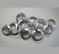 Horizon Silver Metal Wall Art