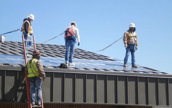 Paramount Metal Systems, Little Rock, Ark., was the turnkey contractor that installed the integrated retrofit roof system on Goodfellow Air Force Base, San Angelo, Texas.