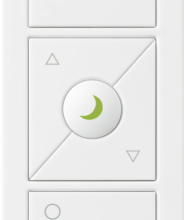 Lutron's Pico wireless remote control with nightlight